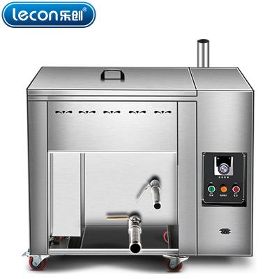 lecon乐创 燃气80升油水分离油炸锅商用燃气煤气单缸炸炉大容量温控油条机电炸锅