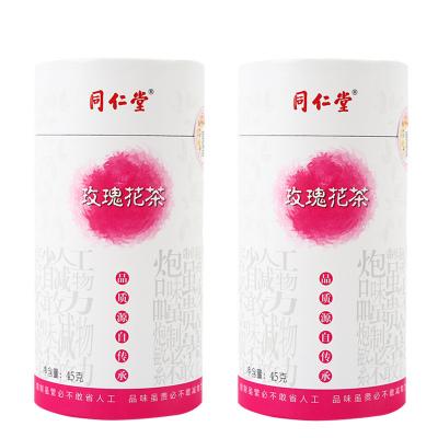 同仁堂 干玫瑰 玫瑰花茶45g*2 養生茶 花草茶 平陰重瓣紅玫瑰