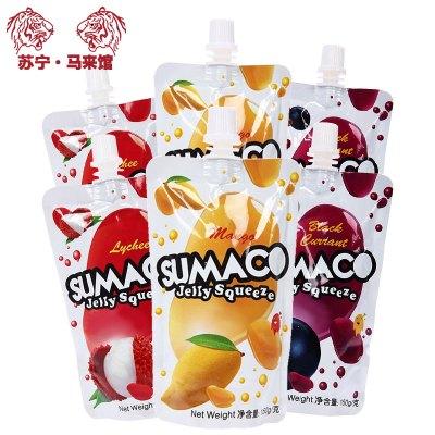 馬來西亞館 素瑪哥/SUMACO 三口味可吸果凍 各2袋 150g*6袋
