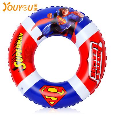 ?佑游泳圈卡通超人蝙蝠侠成人儿童加厚浮圈游泳装备PVC通用74CM