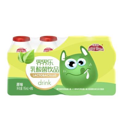 JelleyBrown/界界樂 兒童乳酸菌飲料原味95ml*4瓶