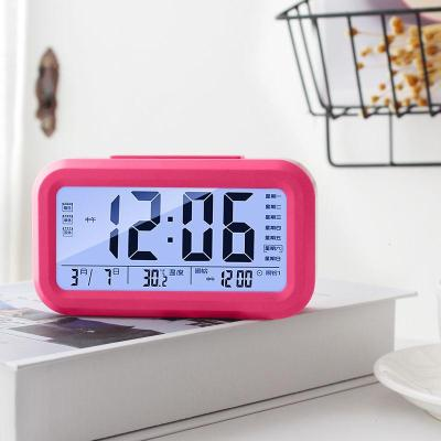 【新品特惠】聰明鐘學生時鐘3組鬧鐘創意夜光時尚靜音床頭鐘表兒童電子鐘