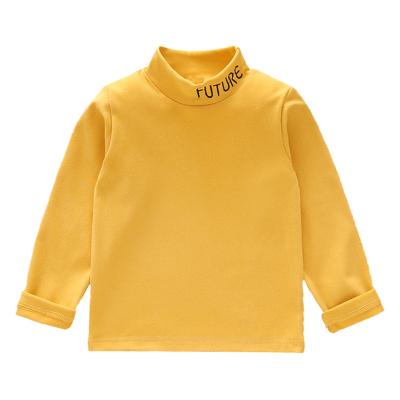 兒童保暖上衣加絨高領秋衣寶寶春秋冬季打底衫嬰兒單件長袖內衣服