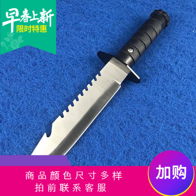 定制   戶外戰術高硬度直刀開刃野外求生軍用刀荒野防身特戰刀隨身刀具刀