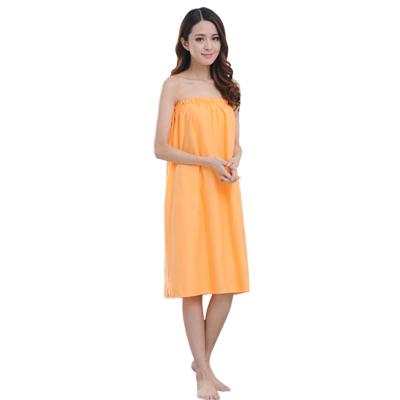 法耐(FANAI)美容院顾客人睡女款专用汗蒸服睡衣服纯棉抹胸围裹胸浴裙浴巾浴袍 紫罗兰套头