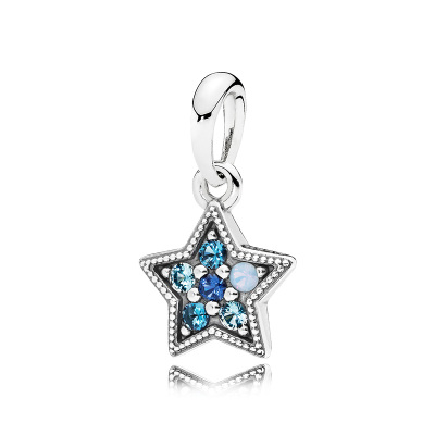 PANDORA潘多拉 925銀串飾璀璨星辰串珠 396376NSBMX