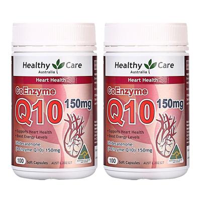 2件裝 | Healthy Care輔酶Q10膠囊100粒/瓶裝
