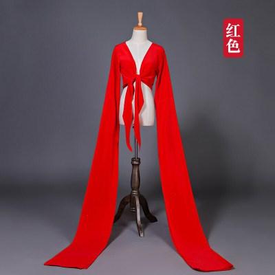 水袖渐变色古典京剧藏族水袖成人儿童练习古典惊鸿舞蹈表演服装