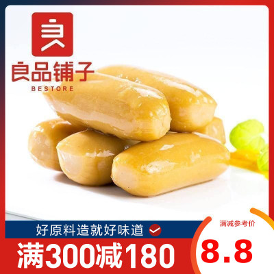 良品鋪子 魚類 迷你深海魚腸 原味108gx1袋裝 小包裝休閑零食品小吃即食海產品