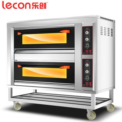 乐创(lecon)二层四盘电热豪华型 商用烤箱 电烤箱蛋糕面包烤炉披萨蛋挞烘炉大功率烤箱商用烘焙蛋糕店设备