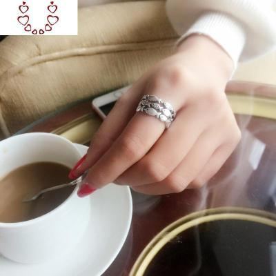 s925純銀創意個性潮人小魚群紅瑪瑙日韓簡約清新學生食指戒指環女 Chunmi瑪瑙戒指