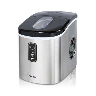 沃拓萊小型迷你家用制冰機日產15kg小型商用奶茶店手動加水圓冰塊2019年新款不銹鋼外觀冰塊制作機