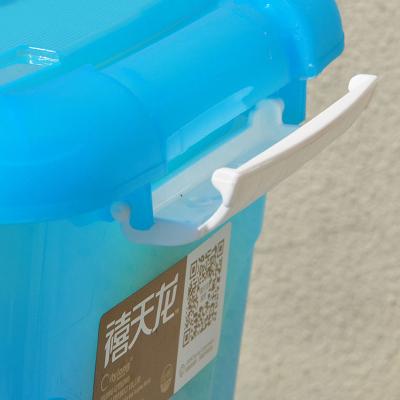 禧天龙citylong6L小号手提箱便携百纳箱糖 果绿色 果冻蓝