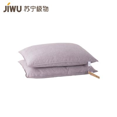 苏宁极物 抗菌可水洗舒棉枕 单只装
