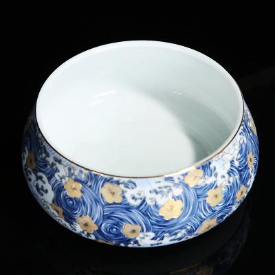 手工扒花大號茶洗茶道配件零配杯洗陶瓷水洗碗筆洗功夫茶具零配