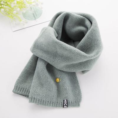 迪士尼 儿童围巾秋冬季男童纯色毛线小女孩可爱韩版女童围巾宝宝围脖保暖