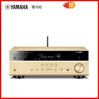 Yamaha/雅马哈 RX-V581家庭影院7.2声道AV功放全景声DTSX蓝牙功放 金色