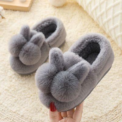 兒童棉鞋2020冬季新款男女室內防滑毛毛月子鞋親子款家居保暖鞋 莎丞