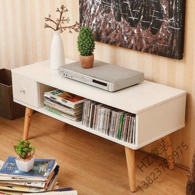 苏宁优选 茶机桌简约现代 白色欧式实木腿免漆 客厅卧室简约日式小户型 大抽屉 电视柜组合套装 地柜