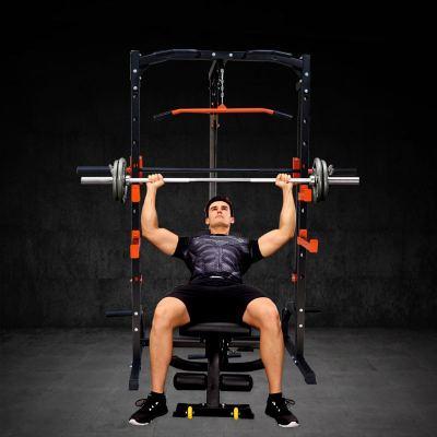 A009黑色凳子能健身器材舉重床臥推器深蹲架龍架杠鈴套裝家用史密斯機 定制