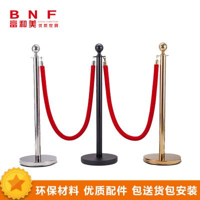 富和美(BNF)豪华挂绳圆球栏杆座不锈钢排队柱酒店迎宾礼宾杆围栏圆头护栏礼宾杆绳子
