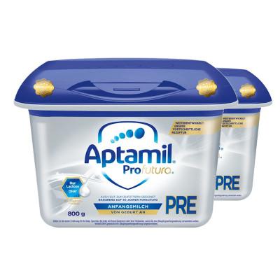 【兩罐裝】Aptamil德國愛他美嬰幼兒新生兒牛奶粉白金版pre段800g(0-6個月)