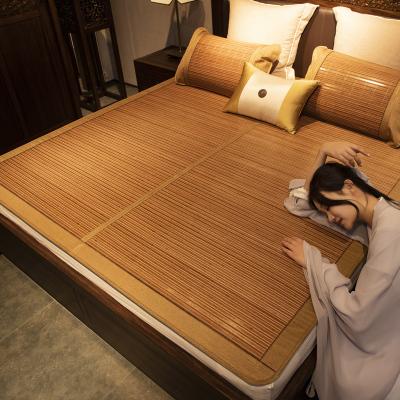 南極人(NanJiren)家紡 涼席1.5m竹席1.8m床2.0米2.2涼竹席雙面折疊雙人床學生宿舍0.9單人1.2席子