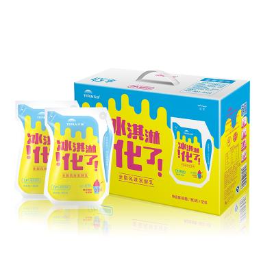 【新疆直发】terun天润酸奶冰淇淋化了网红酸牛奶180g*12袋整箱