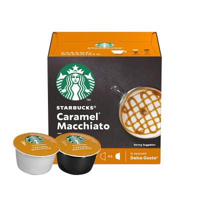 星巴克(Starbucks) 焦糖风味玛奇咖啡 咖啡胶囊127.8g(内含12颗)