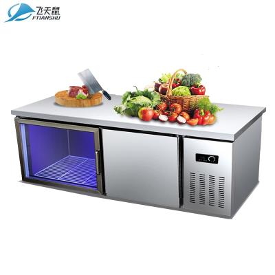 飛天鼠(FTIANSHU) 2米藍光雙溫工作臺保鮮操作臺 吧臺冰箱商用冰柜臥式冷柜平冷操作臺工作臺冷柜