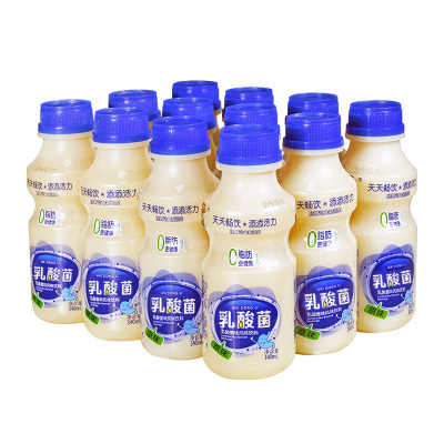 胃動力340ml*12瓶/箱裝乳酸菌飲品牛奶酸奶飲料脫脂兒童早餐奶 原味