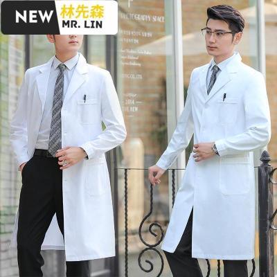 林先森潮流男装白大褂男长袖医生服男冬装白大衣短袖实验服学生护士服医生工作服