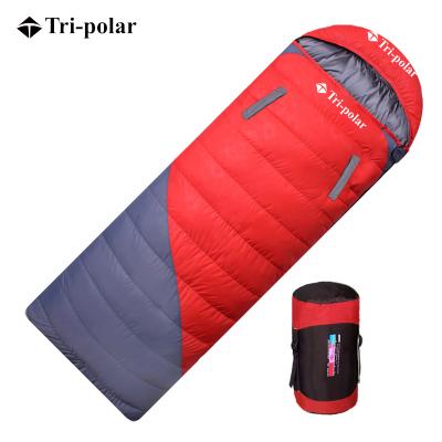 三極戶外(Tripolar) TP2940 羽絨睡袋1KG可伸手成人室內外午休冬季加厚保暖單人露營鴨絨睡袋