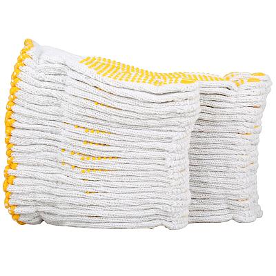 賽拓(SANTO)2088 點塑棉紗手套12付裝 漂白棉紗點珠點膠手套 工作司機開車防塵點珠手套
