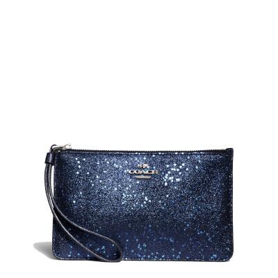 COACH 蔻馳女士錢包女手拿包女手腕包禮盒裝 星辰系列 F22705 羊皮長款卡包