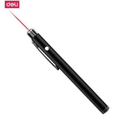 得力deli3933 鋼筆造型便攜式激光筆/無線演示器 黑/銀隨機 紅光 2支