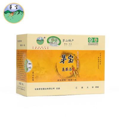 【中華特色】鎮江館 茅寶野生葛根茶有機食品江蘇句容茅山特產90克包裝節日禮品