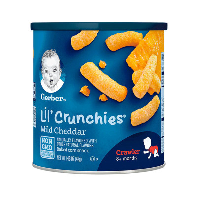 嘉寶(Gerber)奶酪口味泡芙條膨化 3段 42g/桶裝 寶寶零食點心 原裝進口 8個月以上