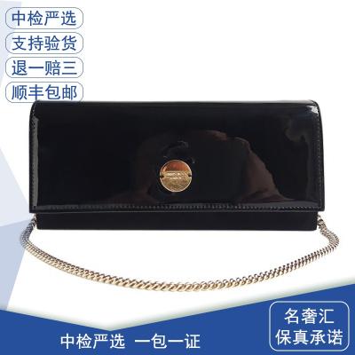 【正品二手99新】JIMMY CHOO FIE系列 女士黑色長款 手拿包 正品二手女包