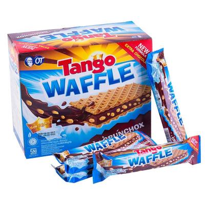 奧朗探戈Tango咔咔脆威化休閑餅干(巧克力味)160g 印尼進口 網紅零食