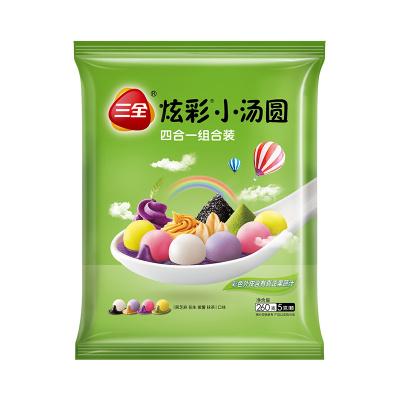 三全炫彩小汤圆混合装口味(黑芝麻、花生、紫薯、抹茶)