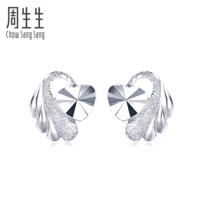 周生生(CHOW SANG SANG)Pt950鉑金耳環耳飾 35687E計價