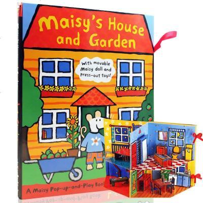 0720英文原版 小鼠波波 房子和花园 搭建立体书场景 Maisy's House and Garden 儿童精装立