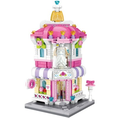 LOZ/俐智小颗粒积木迷你街景益智拼插儿童玩具拼装模型男女孩婚纱店1636