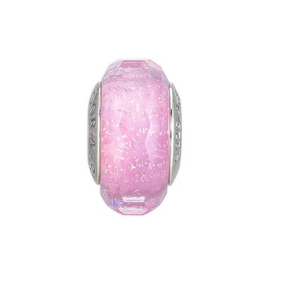 PANDORA潘多拉 粉色闪烁琉璃串饰 925银串珠-791650