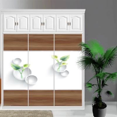 衣柜CIAA定做衣櫥推拉壁柜簡約滑動3定制鋼化玻璃衣柜移 22