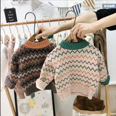 童趣鸭Childlike Duck 宝宝加绒毛衣韩版童装男女小童婴幼儿线衫儿童洋气套头针织打底衫