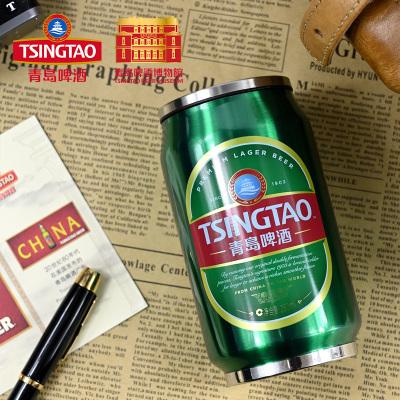 青島啤酒博物館(TSINGTAO BEER MUSEUM)創意不銹鋼易拉罐水杯280ml保溫杯450ml紀念品