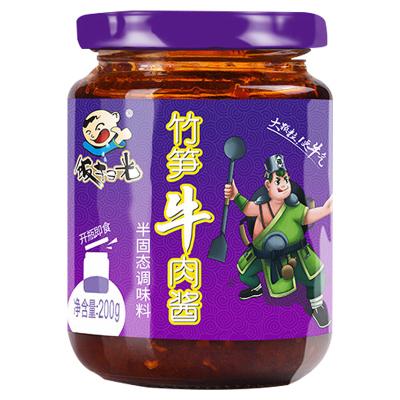 饭扫光 竹笋牛肉酱 200g 拌面拌饭酱四川特产香辣酱佐餐调味料 咸菜