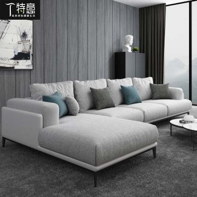 HOTBEE布艺沙发整装客厅家具大小户型转角组合贵妃成套家具北欧现代简约